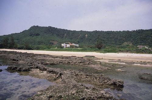1992年萬里桐潮間帶。背景為悠活度假村未開發之前的景象(趙世民攝)