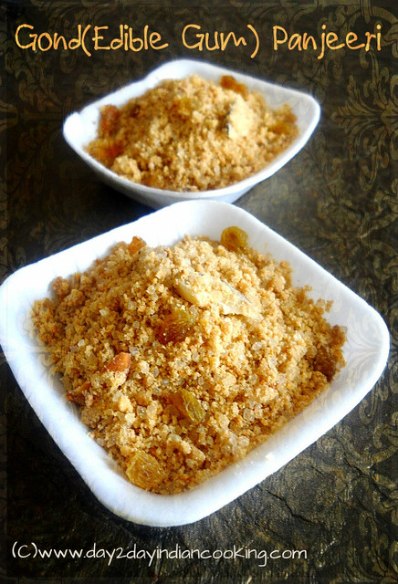 step by step instructions with video of making gond panjeeri