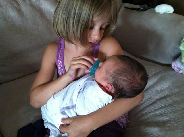 Gigi and baby Charlotte
