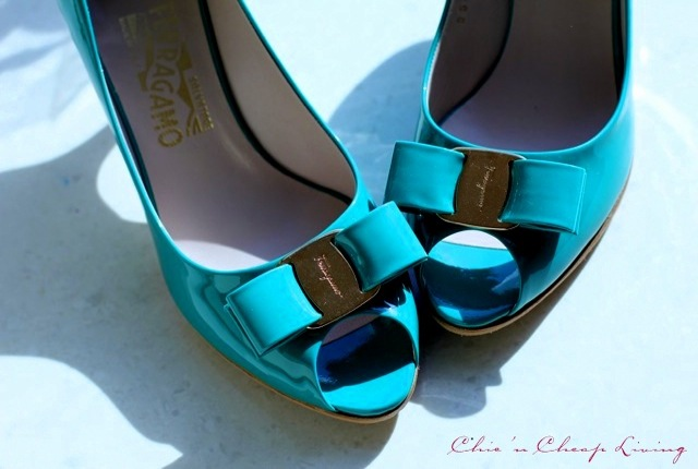 Ferragamo Ribes bows askew by Chic n Cheap Living