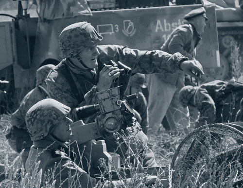 German Gun Crew Reenactors