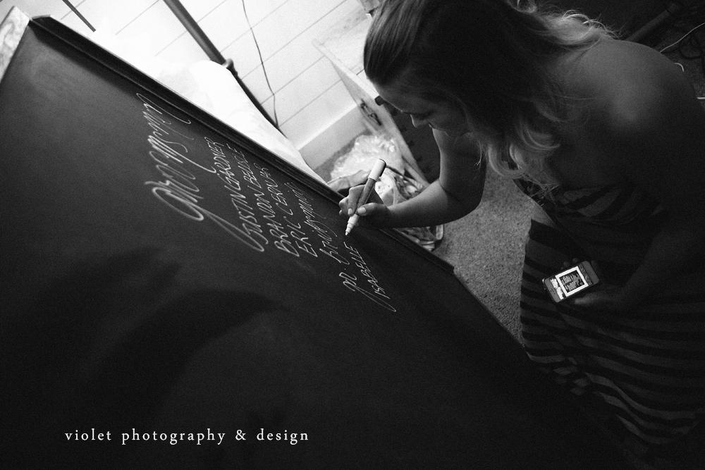 Custom Chalkboard Programs for weddings