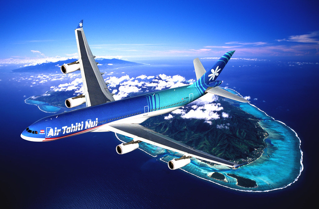 Air-Tahiti-Nui-Airbus-A340-over-Bora-Bora