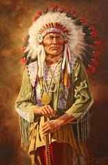 tribal chief, tradition, painting, person,