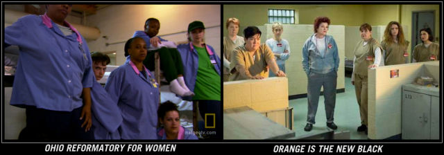 A group of women in prison, versus on the show, look rather similar.
