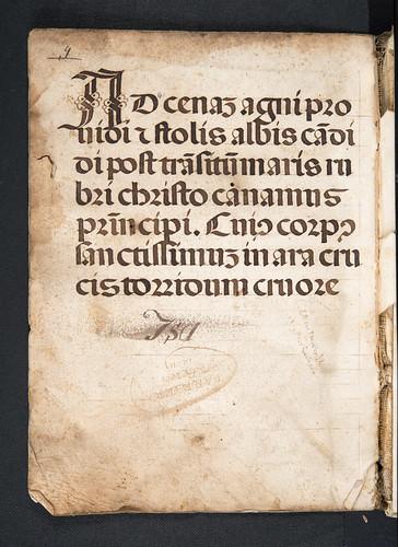 Manuscript hymn in Crastonus, Johannes: Lexicon latino-graecum (Vocabulista)