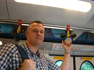 079 Arjan in metro naar Disneyland