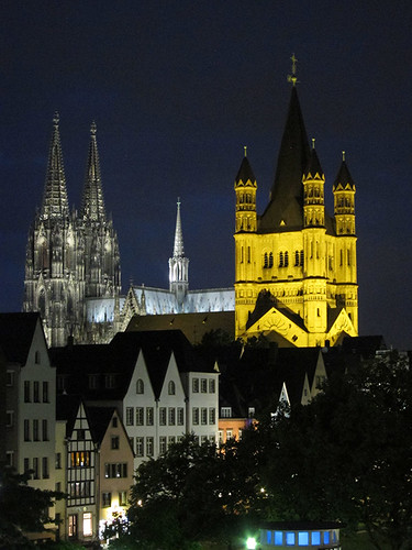 cathedrals at night