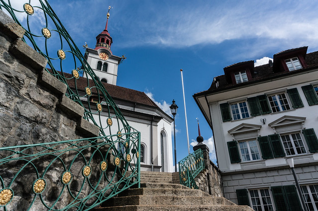 Steps to the Church, Sursee, Switzerland