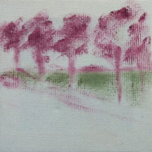 Row of Trees (Mini-Painting as of Sept. 27, 2013) by randubnick