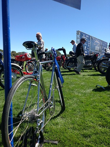In good company at the Concorso ...blue ribbon baby! by matthews cycles