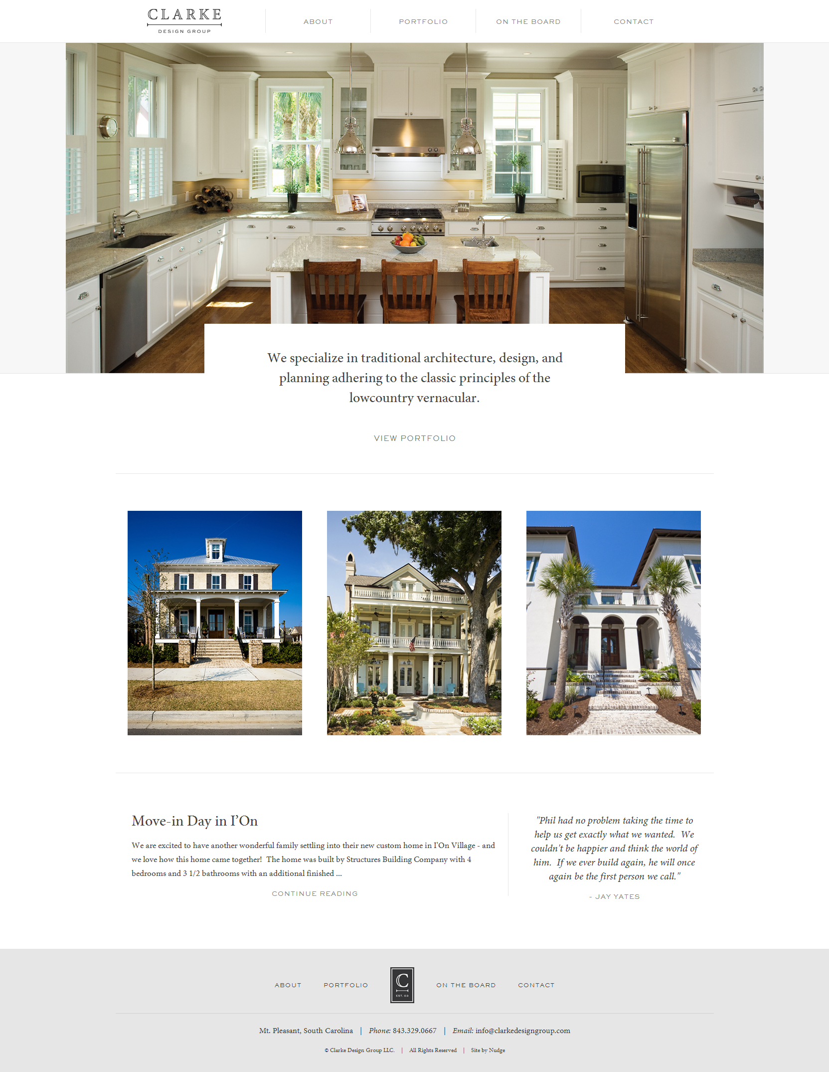 Clarke Design Group - Clean Architecture Website For Your Inspiration