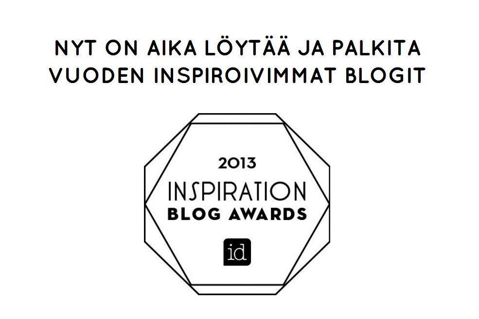 INSPIRATION BLOG AWARDS 2013