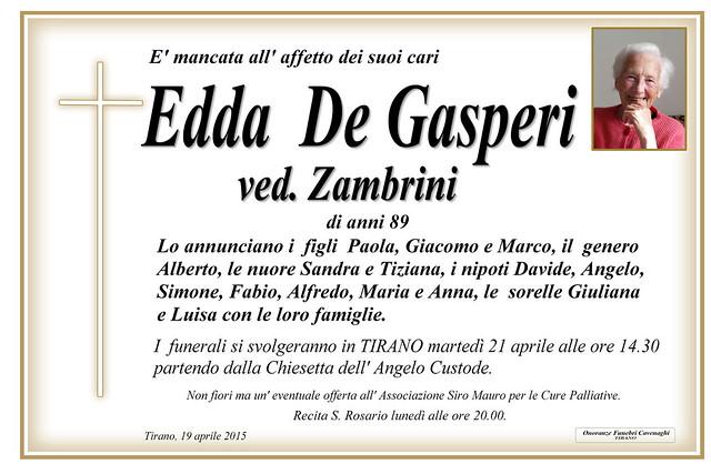 De Gasperi Edda
