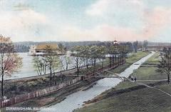 East Lake Park bridge postcard