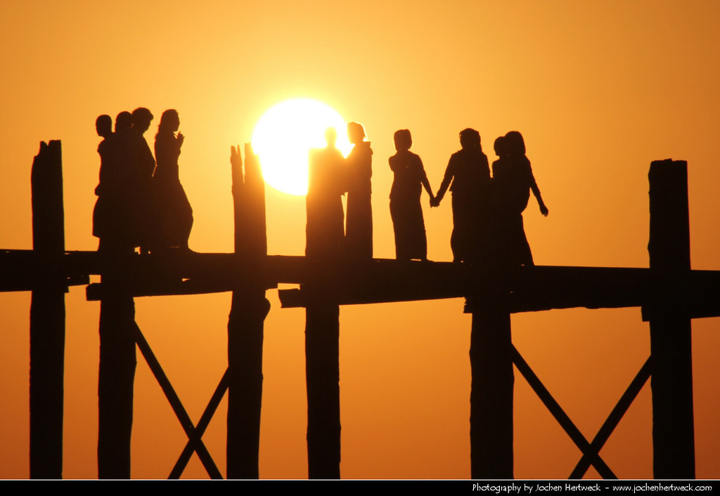 U Bein Bridge @ Sunset, Amarapura, Myanmar