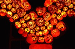 Close-Up Of The Dragon Jack O'Lanterns