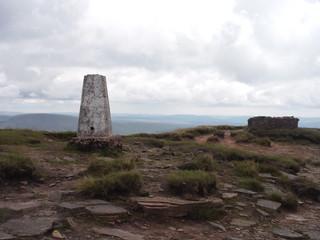 Trigpoint and Storm Shelter on Fan Brycheiniog