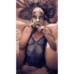 I woke up like this #americanapparel #leotard #hotel #tatoogirl #mask #purge #god #tangledfx   #fujixt2 #fujifilm @fujifilmx_us #iwokeuplikethis