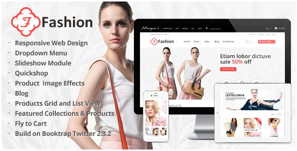 Responsive Shopify Theme - Fashion v1.3