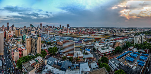 mayfair pano panorama panoramic johannesburg south africa nikon randlords braamfontein sunset sunrise colors city skapes urban tower skyline architecture outdoor waterfront water building complex