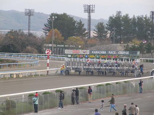 金沢競馬場の1400mスタート位置