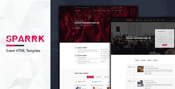 Sparrk v1.0 – Event Bootstrap Template