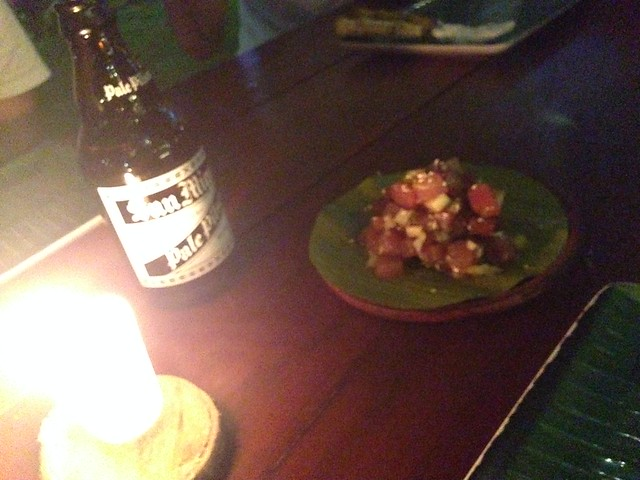 Shaka Hawaiian restaurantでポキとビール