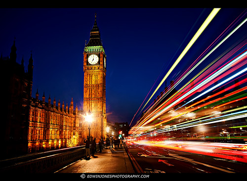 Big Ben Traffic Trails London