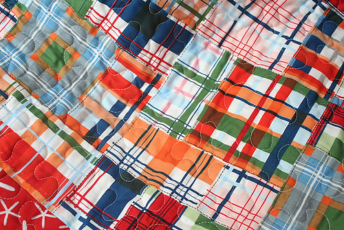 Back of Going Coastal quilt