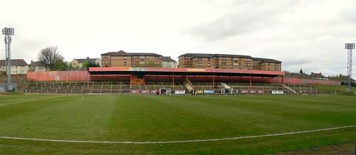 North Terracing, Cliftonhill Stadium, Coatbridge.