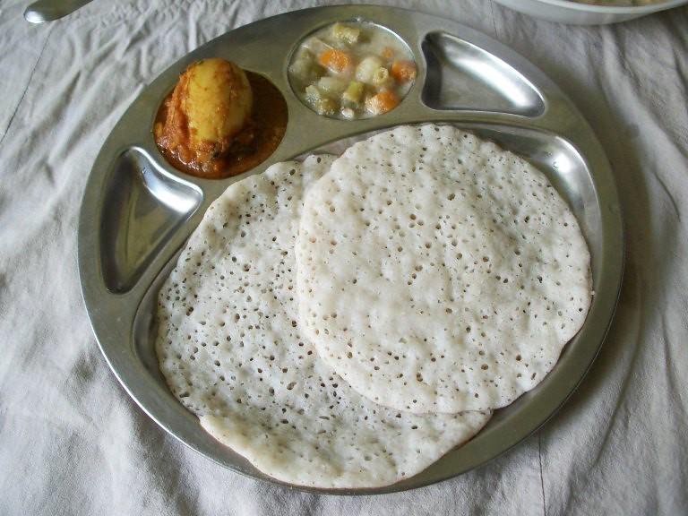 Coconut milk appam palappam vellayappam kerala breakfast thali simple breakfast thali from kerala forumfinder Images