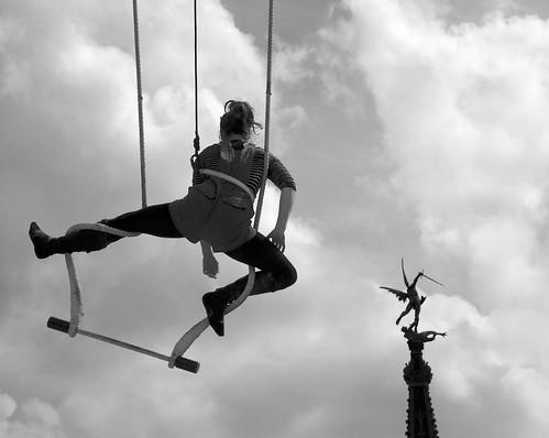 St Michel et la trapéziste