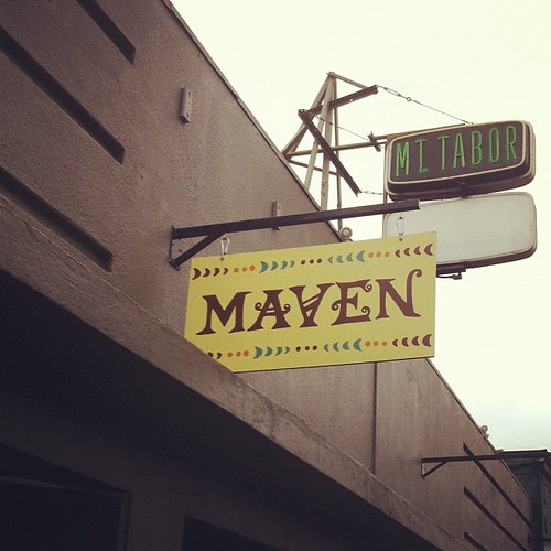 New branding and hand painted sign that I created for Maven! by handmade julz