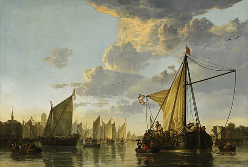Aelbert Cuyp - The Maas at Dordrecht [c.1650] by Gandalf's Gallery
