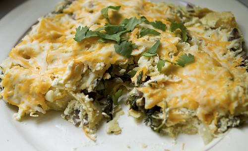 mushroom spinach enchiladas