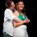 Brian Sgambati (Peter) and Cassie Beck (Rita) in the Huntington Theatre Company's production of PRELUDE TO A KISS playing at the BU Theatre. Part of the 2009-2010 season. Photo: T. Charles Erickson