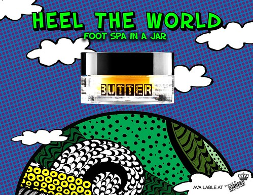 heel the world foot cream poster