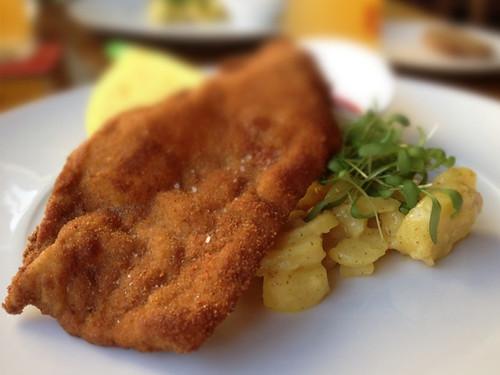 Vienna Schnitzel (veal) at BierBeisl
