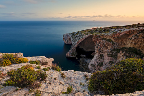 Blue Grotto Malta at Sunset