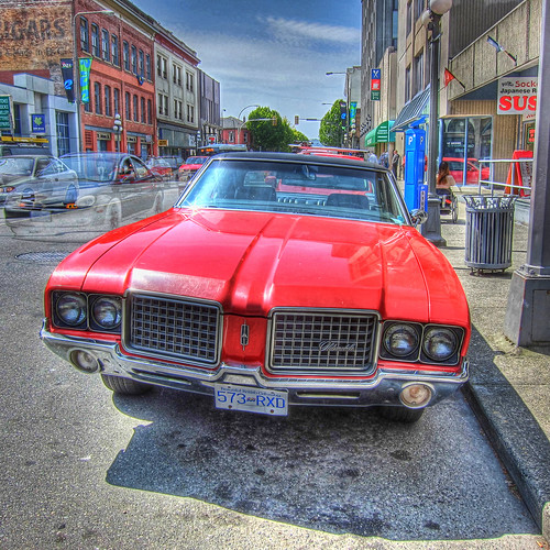 red car hdr oldsmobile redcar cutlass thegalaxy 72cutlass