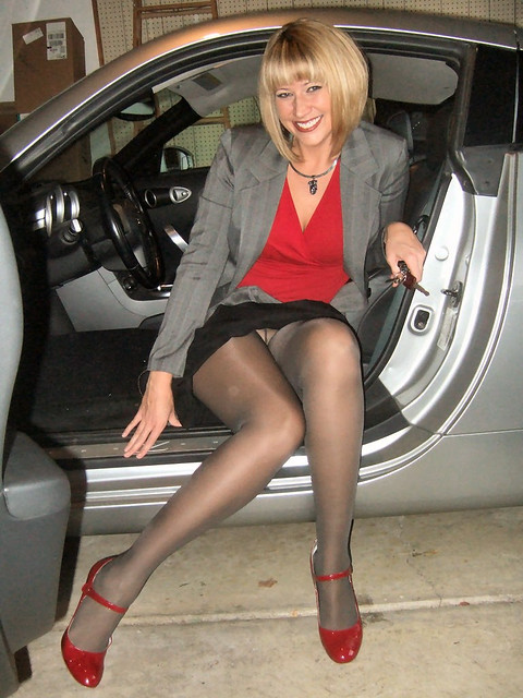 Wife gave me her pantyhose load.... love