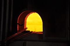 Murano glass works furnace