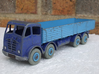Dinky Toys Foden 8 Wheel Diesel Lorry 1950's Toy Two Tone Blue