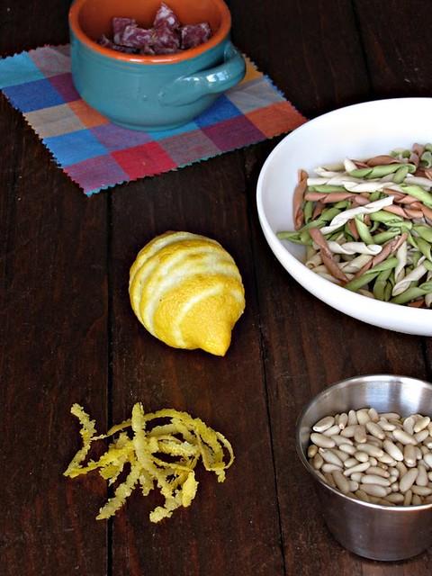 Carbonara di Salsiccia al Finocchietto con Zeste e scaglie di Raspadura