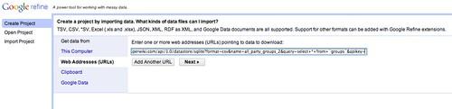 openrefine import data csv