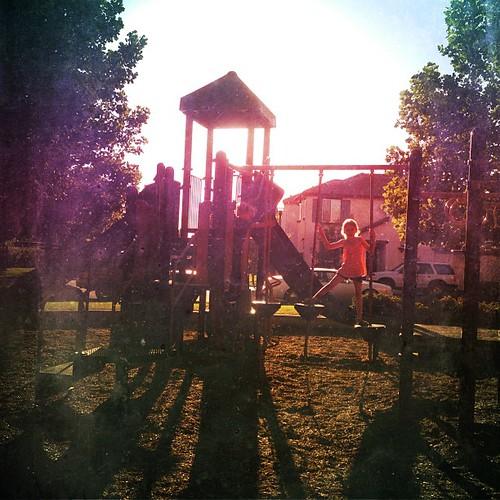 At our neighborhood park enjoying a cool evening @mextures #mextures
