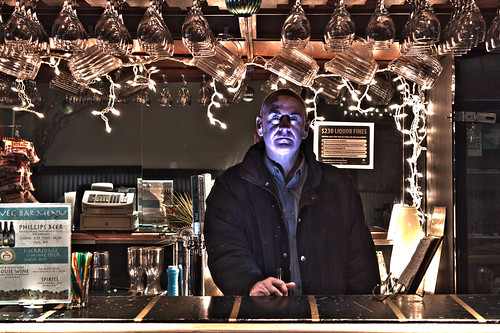 Paul behind the bar by KeithSonic