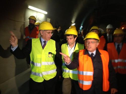 Ministro Lupi sopralluogo galleria monte piazzo con Ciucci Anas Lecco (3)