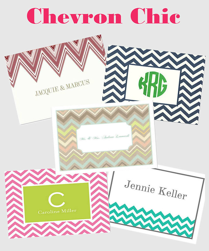 Chevron-Chic-stationery